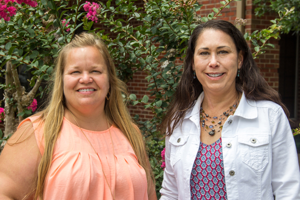 Jessica Jemison-Williams, left, and Jennifer Robinson, right, College of the Mainland Teachers of the Year.