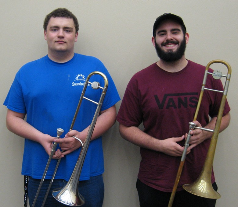 COM students Austin Kelton and Daniel Watson Make All-State Band
