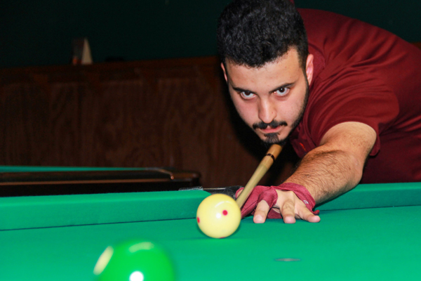 Burak Temel, College of the Mainland student, is on his way to the Association of College Unions International 9-Ball National Championships this month.