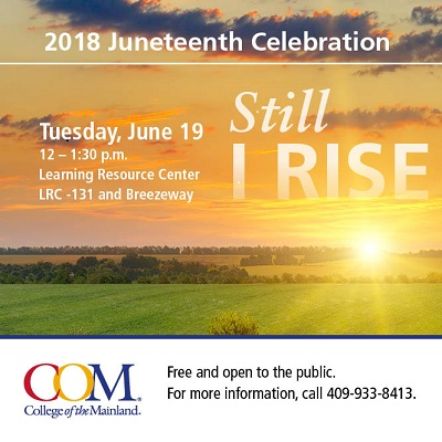 COM Plans Juneteenth Celebration