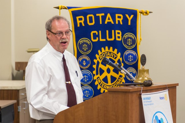 Dr. Steve Sewell at Dickinson Rotary Club