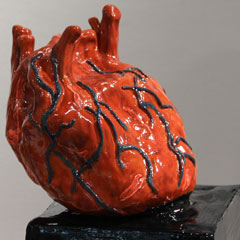 Vibrant sculpture of a heart