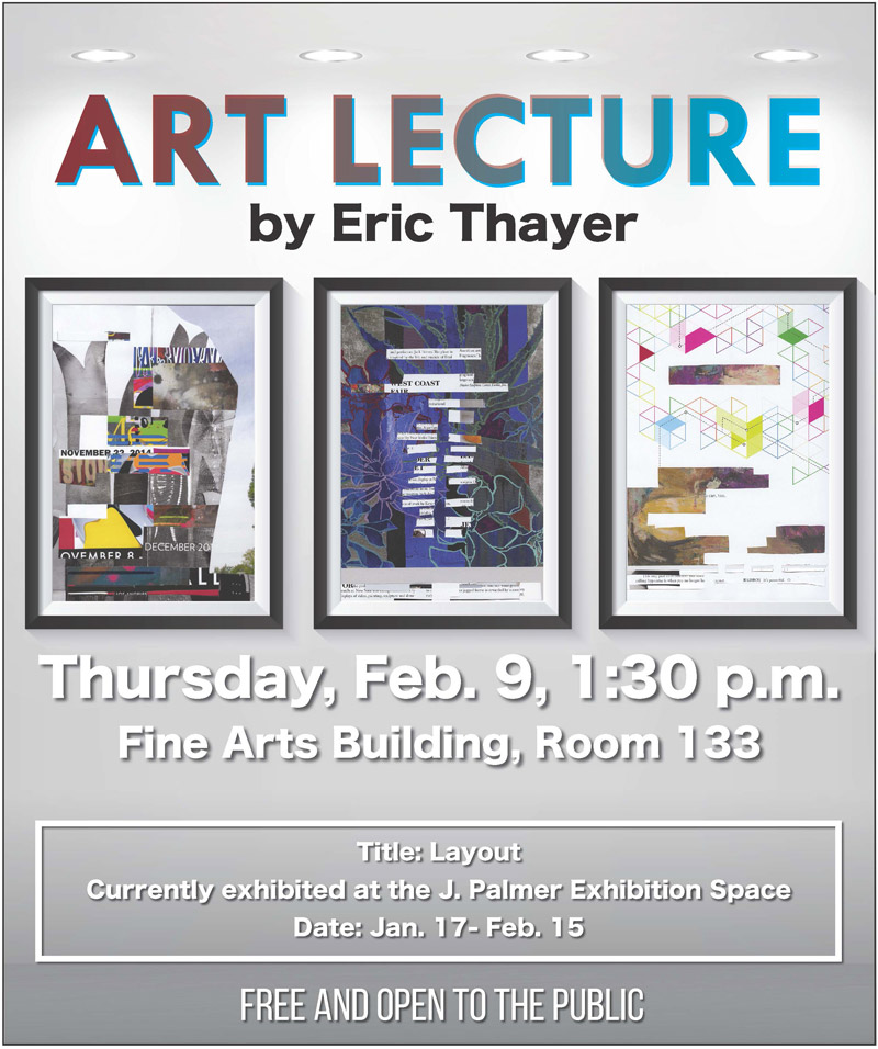 Art Lecture by Eric Thayer poster