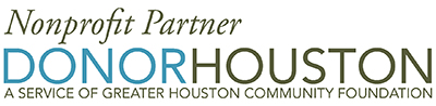 "Logo for ""Nonprofit Partner Donor Houston-A Service of Greater Houston Community Foundation"