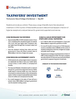 Taxpayer's Investment