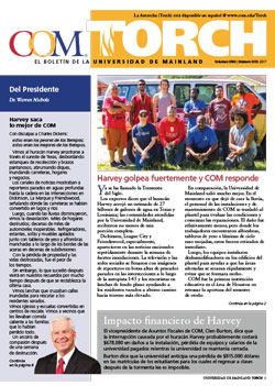 Spanish edition COM Torch Newsletter cover page