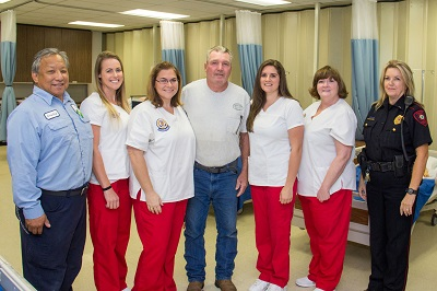 COM Student Nurses Help Resuscitate and Revive Electrician on Campus