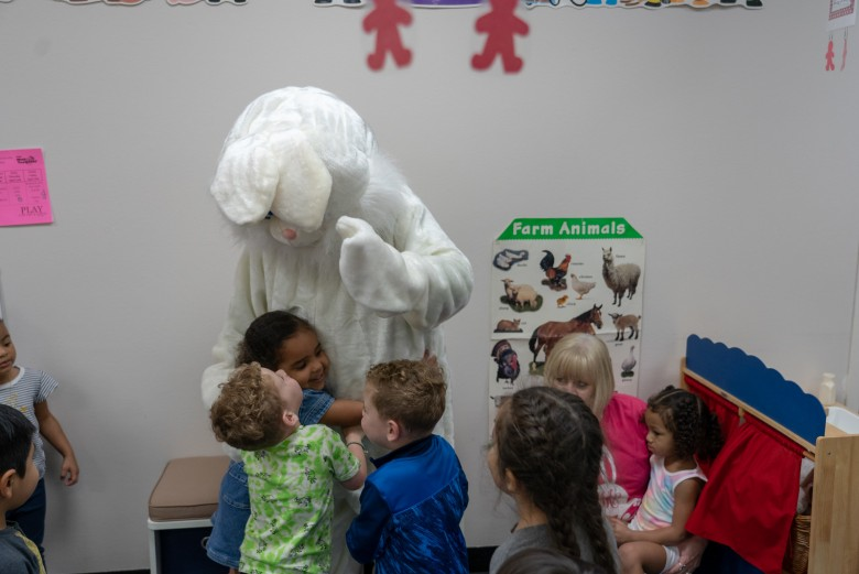 Easter Bunny Pays a Visit to COM Lab School