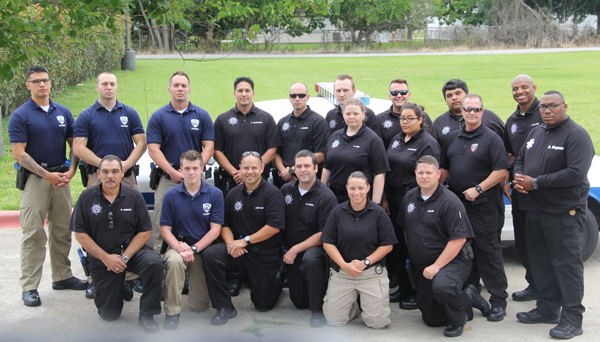 College of the Mainland's 18 cadets graduating from the Basic Peace Officer Academy