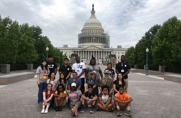 Students in College of the Mainland's Upward Bound Program tour Washington, D.C. The program helps at-risk students from Texas City, La Marque, Hitchcock and Dickinson High School excel in high school and enroll in a college they choose.