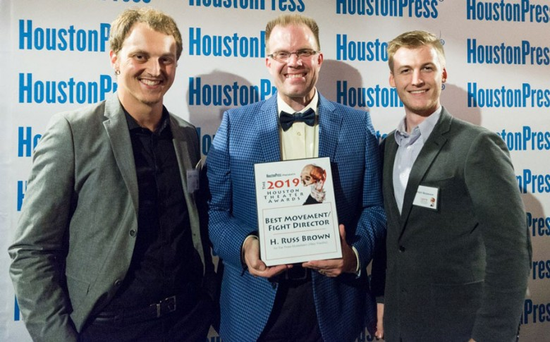 H. Russ Brown, head of the theater department at College of the Mainland receives award for Best Fight Director in the 2019 Houston Press Awards.