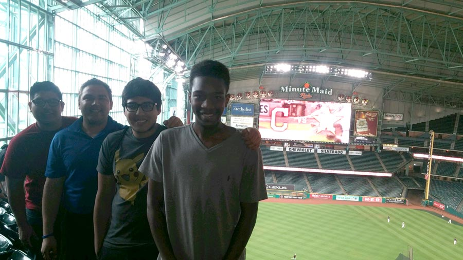 Students at Astros Career Day