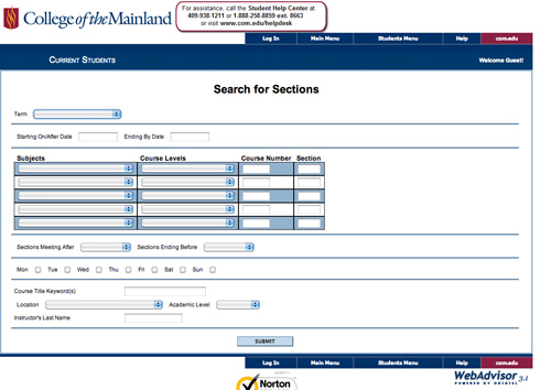 Picture of WebAdvisor Search