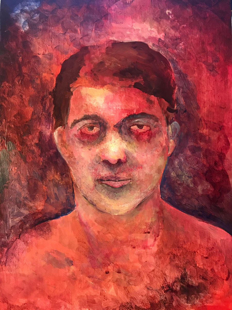 Colorful self portrait of Cooper Walker