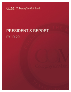 College of the Mainland The President's Report 2020