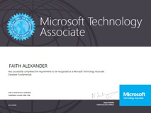 Microsoft Technology Associate certificate