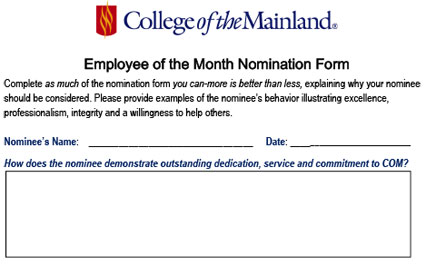 employee of the month forms