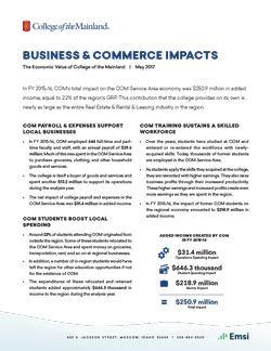 Business & Commerce impacts